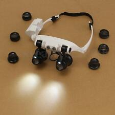 10X 15X 20X 25X Spectacles Eye Glasses LED Lamp Magnifier Loupe Jewellery Repair