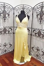 BD296 MORI LEE YELLOW SZ 22  $228* HOMECOMING PROM FORMAL GOWN DRESS   NWT