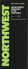 Northwest Airlines system timetable 7/1/89 [308NW] Buy 2 Get 1 Free