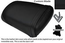 BLACK STITCH CUSTOM FITS HYOSUNG AQUILA GV 125 01-13 REAR LEATHER SEAT COVER