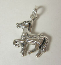 Carousel Horse Charm Pendant .925 Sterling Silver Merry Go Round Ride USA Made