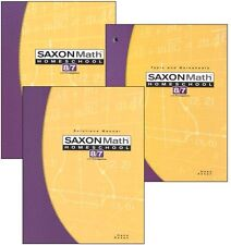 Saxon Math 8/7 Homeschool Kit w/Student Text, Tests/Worksheets, Solutions Manual