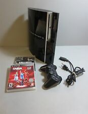 Sony Playstation 3-PS3-40GB-Fat-Console Bundle-w/(2)Games(1)Controller-PowerCord