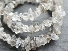 "HERKIMER STYLE DIAMOND QUARTZ BEADS, approx 5x7mm, 16.5"", 140 beads"