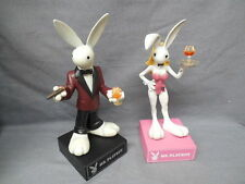 "Mr & MRS Playboy Bunny Limited Edition Collectible Porcelain Figurines 9"" NIB"
