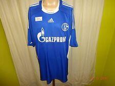 """FC Schalke 04 ORIGINALE ADIDAS maglia di casa 2008/09 """"Gazprom"""" TG. XXL Top"""