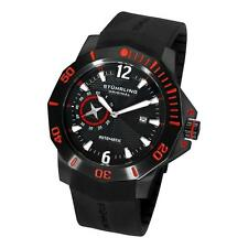 Stuhrling Original 320 335664 2 Quartermaster ADM Automatic Red Black Mens Watch