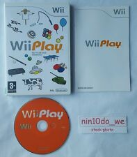 Wii PLAY (Wii) & U=9 Games!=Duck Hunt+Billiards+Laser Hockey+Fishing=NEAR MINT✔