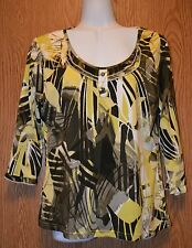 Womens Pretty Click Collection 3/4 Sleeve Shirt Size Medium excellent