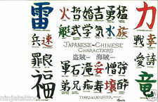 JAPANESE KANJI Tattoo Flash Color+Lines 11x14 Names Writing Script Chinese Words