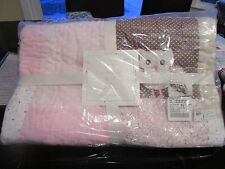 Pottery Barn KIds  Catherine Crib Bumper, Quilt fitted sheet Owl New with tags