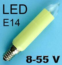 LED Schaftkerze groß elfenbein Ersatz E14 14V 0,3W Lichterkette Weihnachten