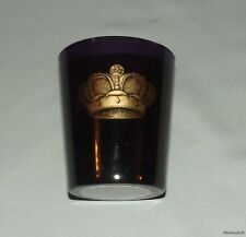 Purple Glass Candle Holder w/ Gold Crown Design - Sir Elton John by Nest USA