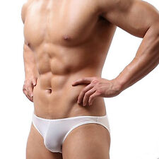 Men's Smooth Stretch Bikini Sexy Underwear Ventilation Cool Low Waist Briefs New