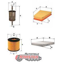 Set L: Ölfilter+Kraftstofffilter+Luftfilter+Innenraumfilter Filterset SEAT SKODA