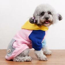 Pet Dog Puppy Warm Winter Soft Sweater Hoodie Jumpsuit Coat Clothes Outwear M+