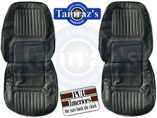 1970 Camaro Standard Front & Rear Seat Covers Upholstery Black PUI New