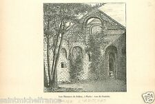 Thermes de Cluny Julian the Apostate PARIS Imperator Emperor GRAVURE PRINT 1905