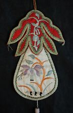 Fine Antique Chinese 19th Century Embroidered Silk Pendant Necklace # 2