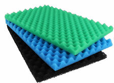 "Fish Pond Spare Replacement Filter Foam Sponge Set x3 Fine Medium Coarse 25""x18"""
