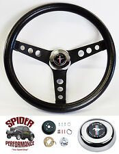 "1970-1973 Mustang steering wheel PONY CLASSIC BLACK 13 1/2"" Grant steering wheel"