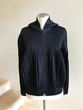 New Without Tags PLEATS PLEASE by ISSEY MIYAKE  Pleated Hooded Jacket Size 4