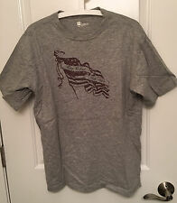 GAP, Classic fit heather grey t-shirt with flag logo, Large, NWOT