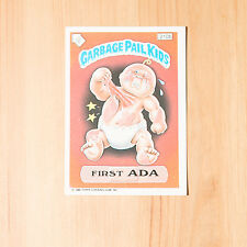 Vintage Garbage Pail Kids 1986 UK Sticker Collector's Card First Ada 210b