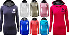 Ladies Womens Plain Hoody Hooded Sweatshirt Casual Gym Top Size 6-14 USA Miss