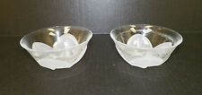 "CRISTAL J G DURAND FLORENCE SATINE BERRY OR DESERT BOWLS PAIR (2) 4 3/4"" ACROSS"