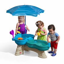 Step2 Spill Splash Seaway Water Table Umbrella Wheel Toddler Outdoor 11 pc Toy