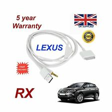 LEXUS RX para Apple iPhone 3GS 4 4S iPod Cable de Audio USB y Aux blanco