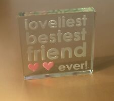 Spaceform Best Friend Glass Token Friendship Christmas Gift Ideas For Her 0981