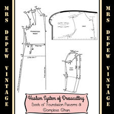 Haslam Foundation Drafting and Chart Vintage Sewing Pattern E-book CD