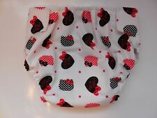 Handmade  Adult M Cloth Diaper Adjustable Reusable with Insert Pad Hello Kitty