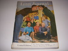 Vintage FARM JOURNAL Magazine, February, 1958, GROWING DAFFODILS IN SOD, FORD AD