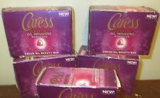 Lot of 4 Caress Exotic Oil Infusions Moroccan Beauty Bar soap 3.15 oz each