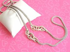 Brighton Necklace Mercer Long Chain Links Silver Tone Stand Out NWOT 98.00