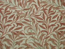 WILLIAM MORRIS CURTAIN FABRIC Willow Bough's Major 3.5 METRE BISCUIT/TERRACOTTA