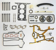 HEAD GASKET SET BOLTS CHAIN KIT GEARS AGILA CORSA 1.0 Z10XEP 03 on C D TWIN PORT