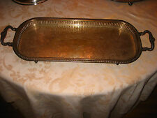 Ornate Silverplate  Sheridan Tray  1920's to 1940's SILVER PLATE Hallmarks
