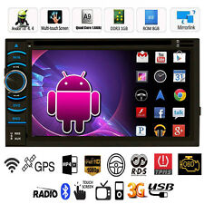 Android 4.4 Double 2 Din Car Stereo GPS DVD Player 6.5 Bluetooth Radio 3G WiFi