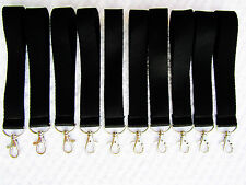 10 x BLACK KEYRINGS CLIP HOLDER,VINYL PRINT AND HEAT TRANSFER 25mm