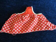 Vintage Barbie Red Polka Dot Apron with snaps