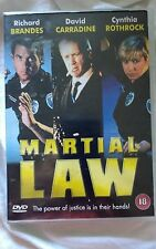 MARTIAL LAW DVD CRASES /WATERMARKS TO COVER CYNTHIA ROTHROCK  OFFICIAL