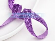 New 10/50/200Yards 3/8'' Width Trim Sparkle Glitter Velvet Ribbons Sewing Fabric