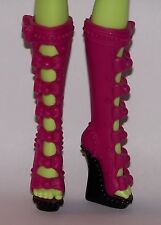 MONSTER HIGH Doll Shoes Iris Clops Pink Wedge Heels also Fit Ever After High