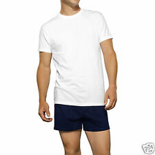Fruit Of The Loom Eversoft Men's White 4 Pack No Ride-Up Crew T-Shirts 46-48 XL