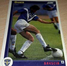 CARD SCORE 1993 BRESCIA GIUNTA CALCIO FOOTBALL SOCCER ALBUM