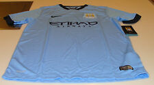 2014-15 Manchester City Soccer Home Jersey Short Sleeves Premier League S Boys